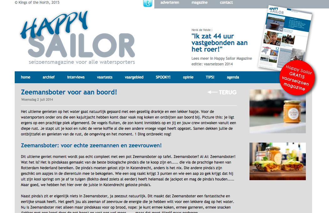 Zeemansboter Happy Sailor